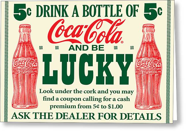 Antique Digital Greeting Cards - Antique Drink Coke Sign Greeting Card by Gary Grayson