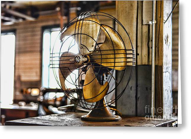 Air Conditioner Greeting Cards - Antique Fan Greeting Card by Paul Ward