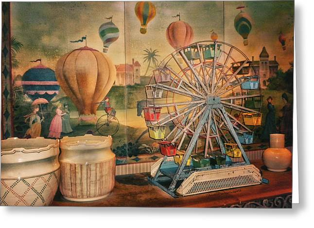 Antique Ferris Wheel Walt Disney World Greeting Card by Thomas Woolworth