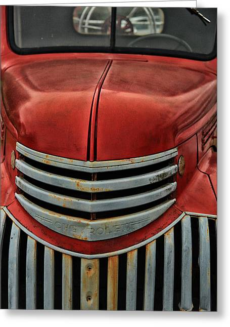 Classic Truck Greeting Cards - Antique Fire Engine Greeting Card by Karol  Livote