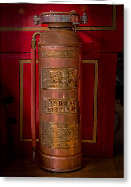 Safeguard Greeting Cards - Antique Fire Extinguisher Greeting Card by Paul Freidlund