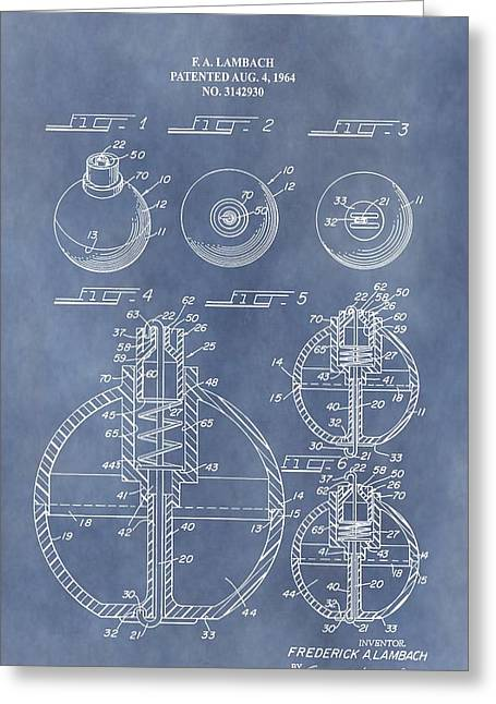 Fishing Bait Shop Greeting Cards - Antique Fishing Bobber Patent Greeting Card by Dan Sproul