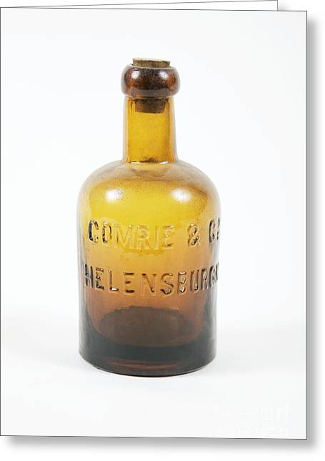 Glass Bottle Greeting Cards - Antique Glass Bottle Greeting Card by Gregory Davies / Medinet Photographics
