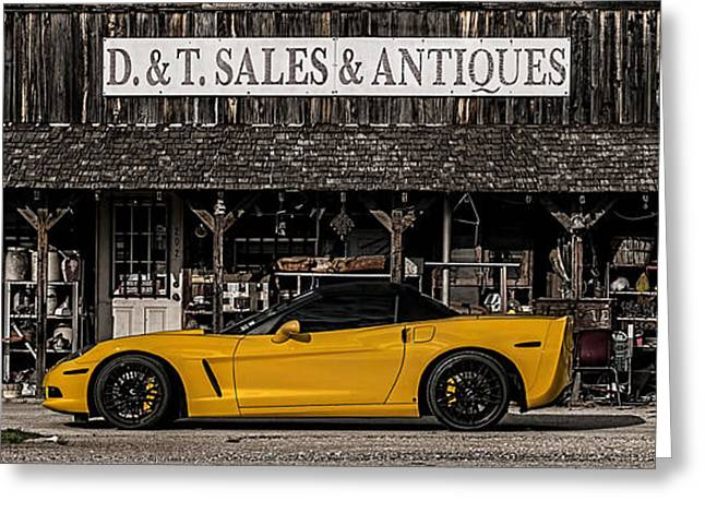 Sportscar Greeting Cards - Antique Gold Greeting Card by Douglas Pittman