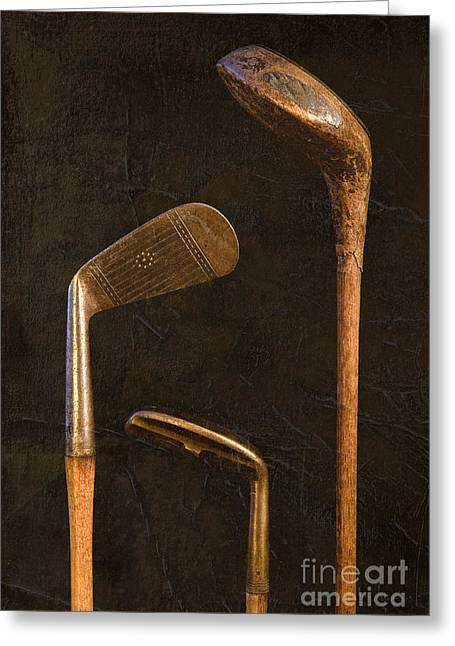 Antique Equipment Greeting Cards - Antique Golf Clubs Greeting Card by Diane Diederich