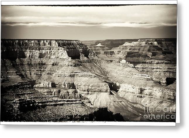 The Grand Canyon Greeting Cards - Antique Grand Canyon Greeting Card by John Rizzuto