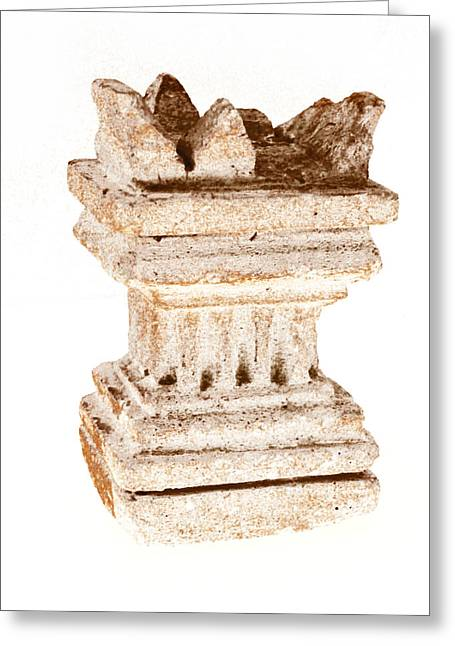 Greek Sculpture Greeting Cards - Antique Greece  Greeting Card by Gina Dsgn