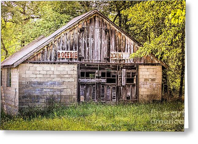 Grocery Store Greeting Cards - Antique  Grocery Store Greeting Card by Peggy  Franz
