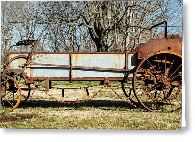 Saw Blade Greeting Cards - Antique Hay Bailer 2 Greeting Card by Douglas Barnett