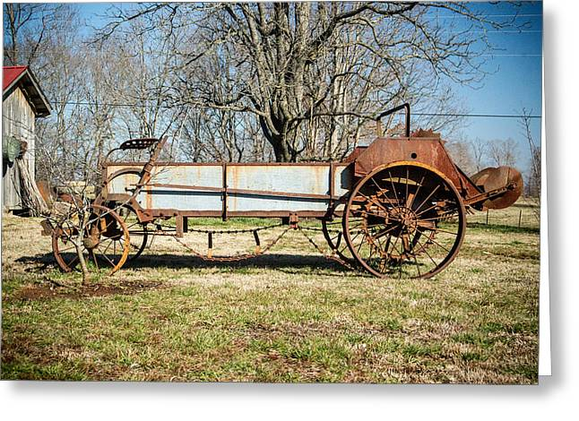 Saw Blade Greeting Cards - Antique Hay Bailer 3 Greeting Card by Douglas Barnett