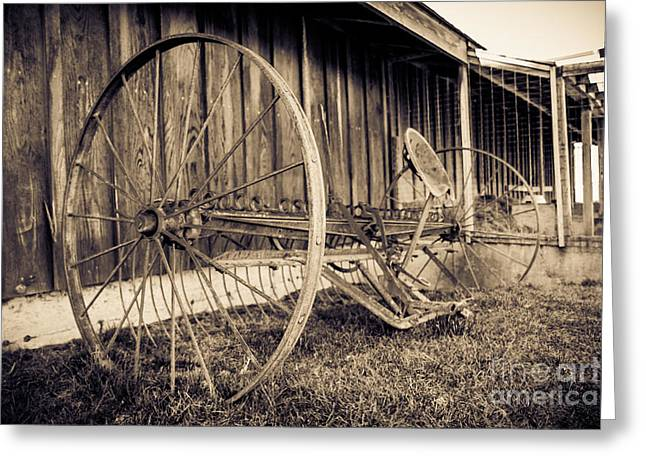 Hay Rake Greeting Cards - Antique Hay Rake Greeting Card by Lucid Mood