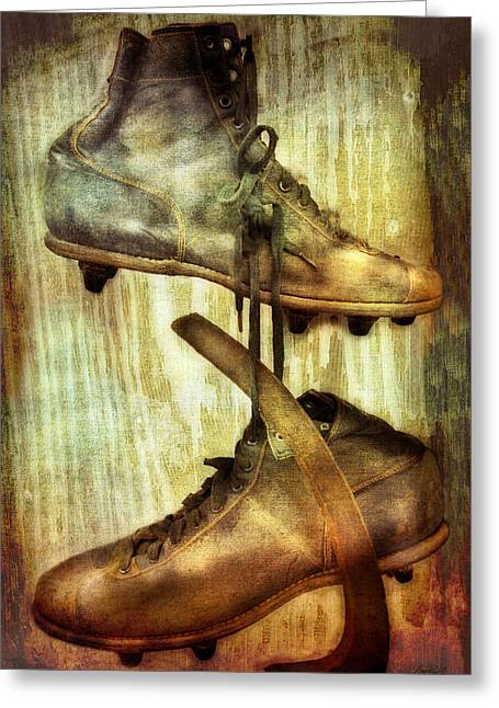 Antique Skates Photographs Greeting Cards - Antique Ice Skates photography Greeting Card by Ann Powell