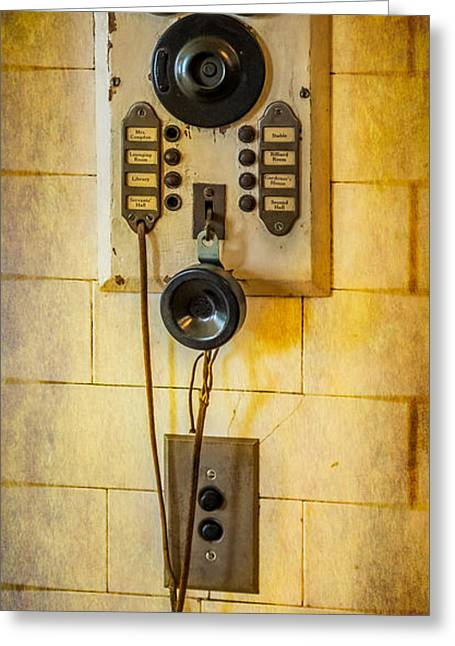 Handset Greeting Cards - Antique Intercom Greeting Card by Paul Freidlund
