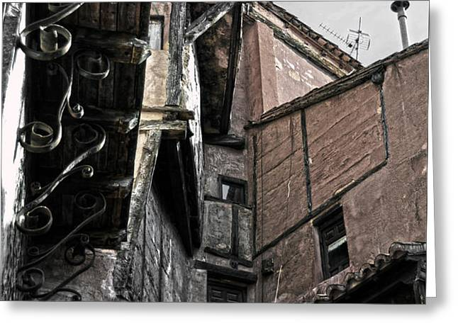 Antique ironwork wood and rustic walls Greeting Card by RicardMN Photography