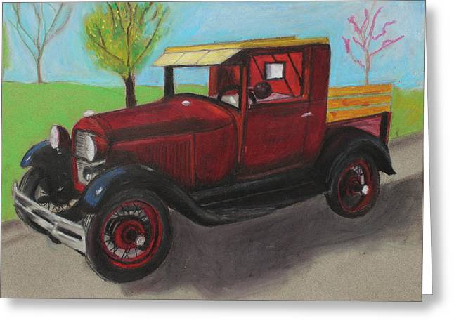 Old Street Pastels Greeting Cards - Antique Greeting Card by Jeanne Fischer