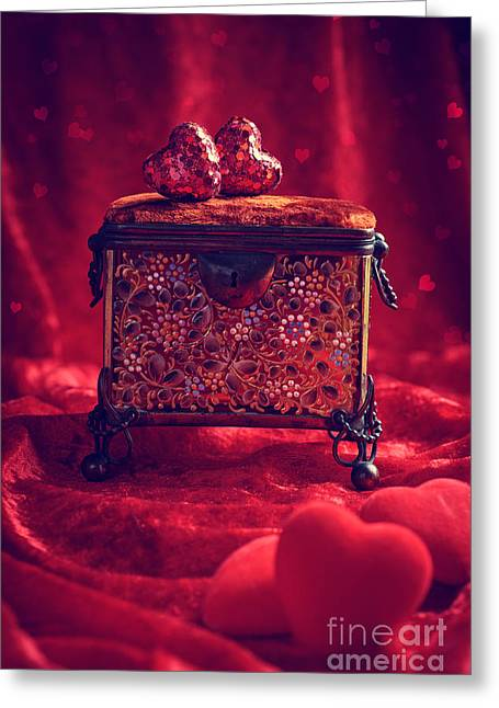 Elegant Bride Greeting Cards - Antique Jewel Casket Greeting Card by Amanda And Christopher Elwell