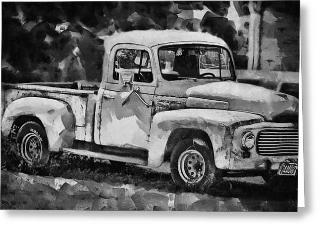 Old Trucks Greeting Cards - Antique Greeting Card by Kathy Jennings