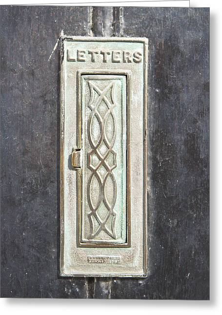 Wooden Building Greeting Cards - Antique letter pox Greeting Card by Tom Gowanlock