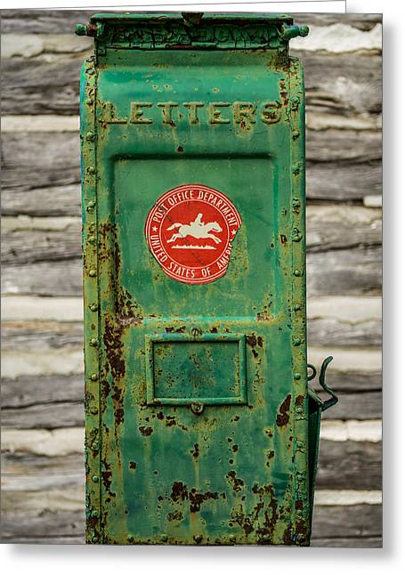 Pull Greeting Cards - Antique Mailbox Greeting Card by Paul Freidlund