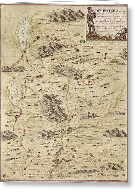 Escalante Greeting Cards - Antique Map of Utah by Antonio Velez y Escalante - 1777 Greeting Card by Blue Monocle
