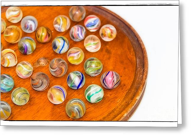 Cats Eye Marbles Greeting Cards - Antique Marbles - Vintage Toys Greeting Card by Colleen Kammerer
