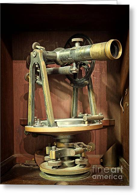 Recently Sold -  - Surveying Greeting Cards - Antique Measuring Instrument Of Surveying And Alignment  Greeting Card by Phaitoon Sutunyawatcahi