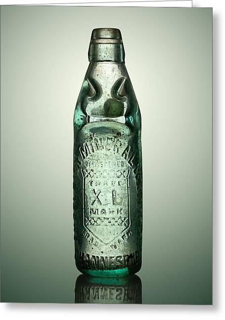 Antique Mineral Glass Bottle Greeting Card by Johan Swanepoel