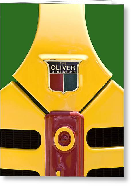Oliver Greeting Cards - Antique Oliver Tractor Greeting Card by Tom Mc Nemar