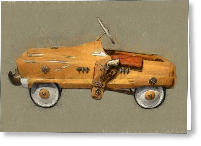 Pedal Car Greeting Cards - Antique Pedal Car l Greeting Card by Michelle Calkins