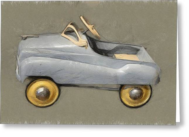 Steering Greeting Cards - Antique Pedal Car ll Greeting Card by Michelle Calkins