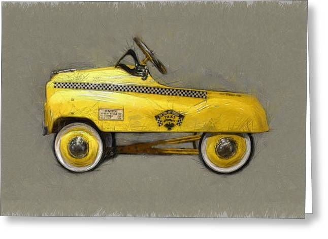Hubcap Greeting Cards - Antique Pedal Car lll Greeting Card by Michelle Calkins