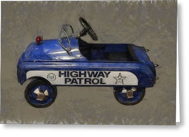 Police Cruiser Greeting Cards - Antique Pedal Car V Greeting Card by Michelle Calkins