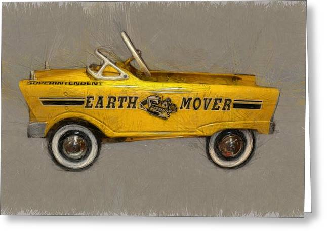 Dozer Greeting Cards - Antique Pedal Car Vl Greeting Card by Michelle Calkins