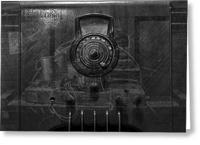 Component Digital Greeting Cards - Antique Philco Radio Model 37 116 BW Merge Greeting Card by Thomas Woolworth