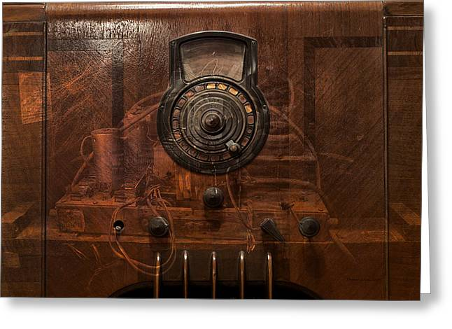 Component Digital Art Greeting Cards - Antique Philco Radio Model 37 116 Merge Greeting Card by Thomas Woolworth