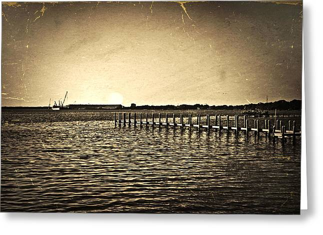 Susan Leggett Greeting Cards - Antique Photo of Pier  Greeting Card by Susan Leggett