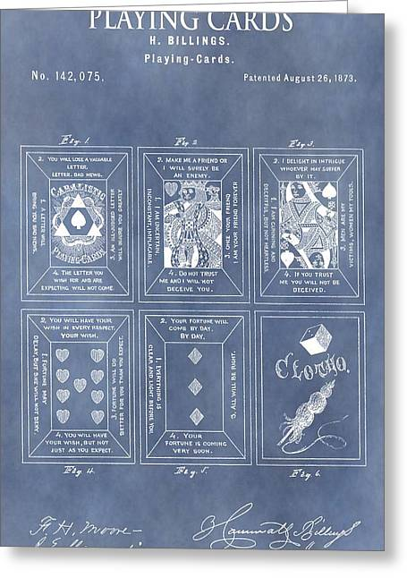Playing Cards Drawings Greeting Cards - Antique Playing Cards Greeting Card by Dan Sproul
