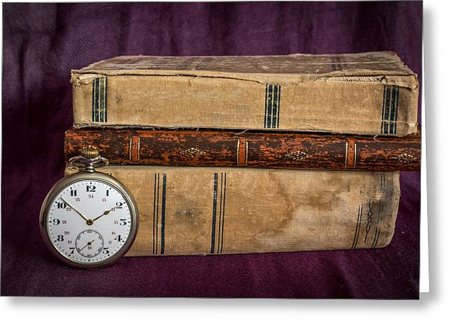 Mechanism Photographs Greeting Cards - Antique Pocket watch Greeting Card by Julian Popov