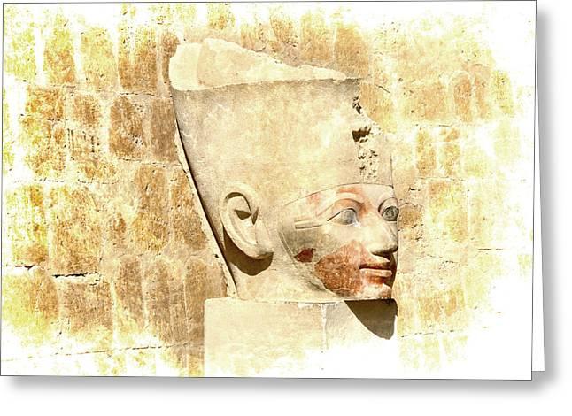 Hathor Greeting Cards - Antique Queen Greeting Card by Brenda Kean