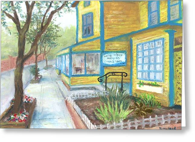 Row Pastels Greeting Cards - Antique Row in Kensington MD Greeting Card by Nancy Heindl