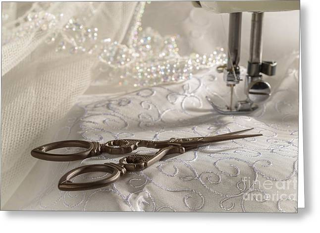 Scissors Greeting Cards - Antique Scissors Greeting Card by Amanda And Christopher Elwell