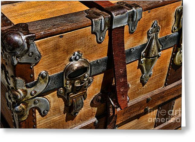 Leather Straps Greeting Cards - Antique Steamer Truck Detail Greeting Card by Paul Ward