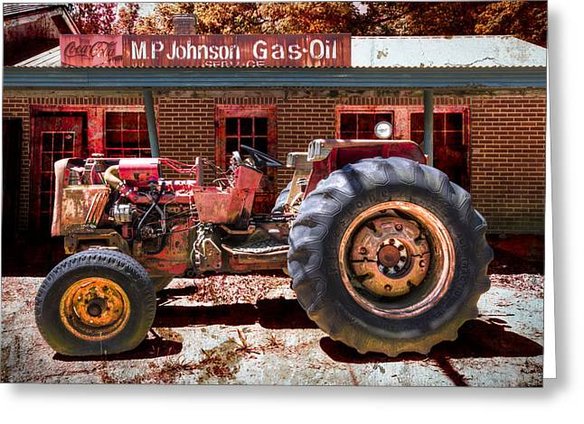 Chalmers Greeting Cards - Antique Tractor Greeting Card by Debra and Dave Vanderlaan