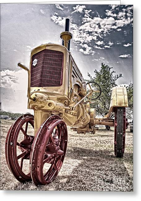 Antique Tractor Greeting Card by Tamyra Ayles