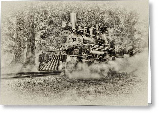 Antique Train Greeting Card by Bill  Wakeley