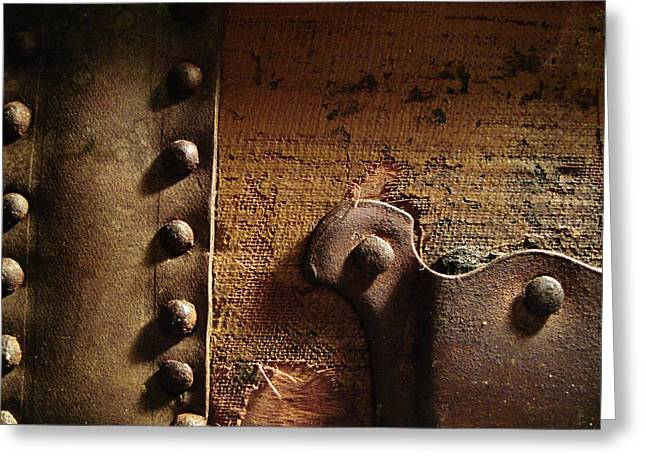 Straps Greeting Cards - Antique Trunk 2 Greeting Card by Mary Bedy