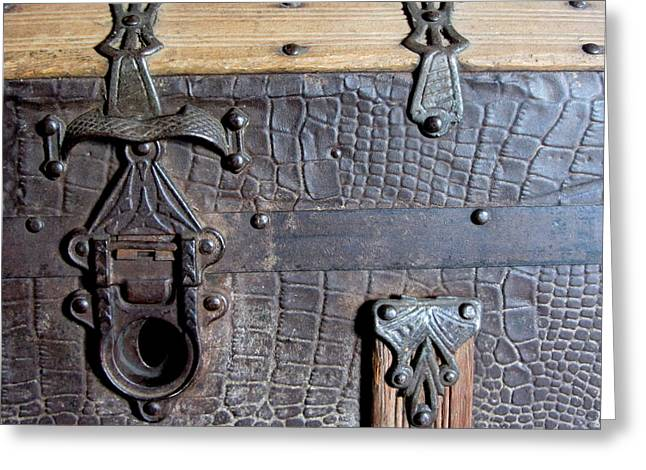 Straps Greeting Cards - Antique Trunks 2 Greeting Card by Anita Burgermeister
