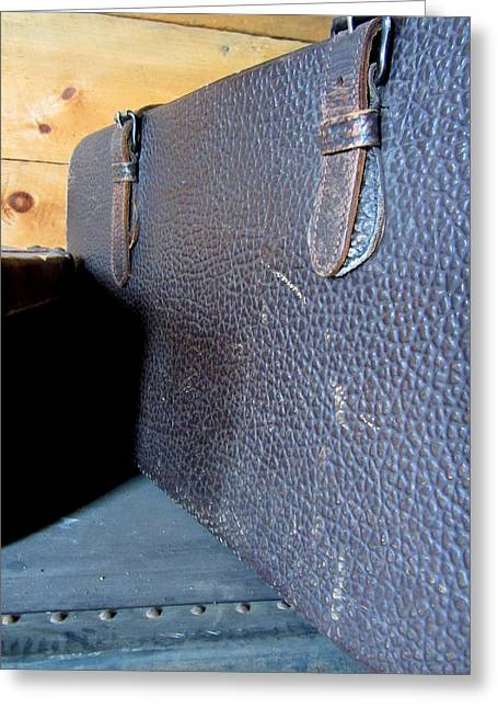 Straps Greeting Cards - Antique Trunks 7 Greeting Card by Anita Burgermeister