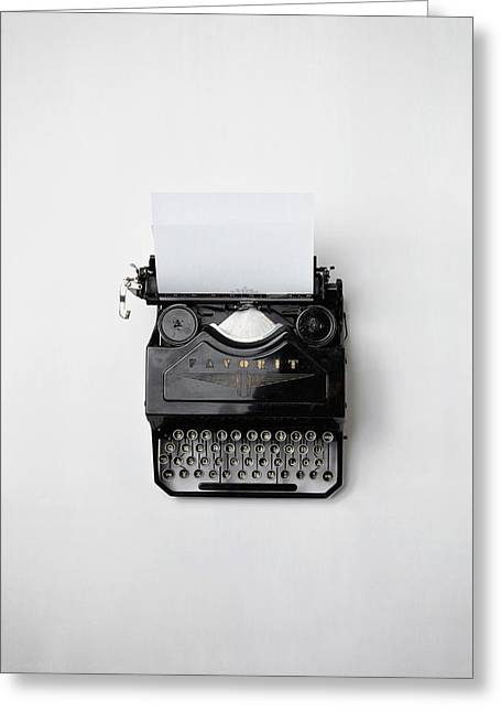 Typewriter Greeting Cards - Antique Typewriter Greeting Card by Mountain Dreams