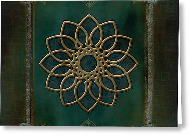Antique Wall Mural Greeting Card by Bedros Awak